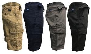 Men's 7 Pocket Cotton Cargo Shorts with Belt