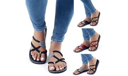 Fashion Bandage Sandals Flip Flops Sandals for Women Oceanside