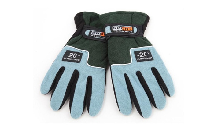 Women's Outdoor Fleece Gloves Autumn and Winter Cycling Gloves