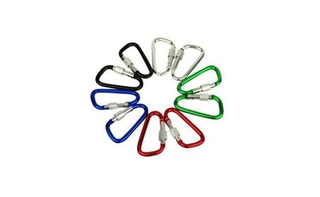 "Agptek 24 Pcs 3"" / 8cm Aluminum Carabiner D Shape Locking Clip Hook 7d2c93ab-21cb-4289-a631-c7f8f39afbce"