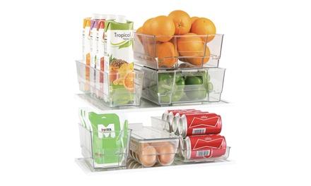 Refrigerator, Freezer, Pantry Storage Organizer Bins for Kitchen