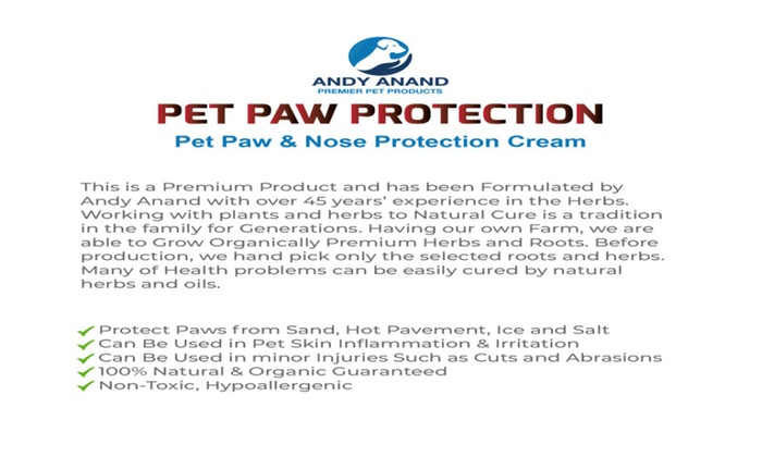 Andy Anand's Natural Organic Pet Paw Protection Cream | Groupon
