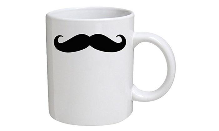 moustache mustache coffee mugs groupon