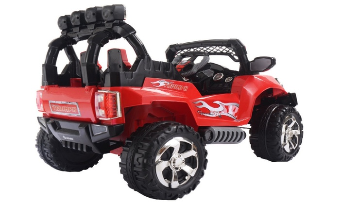 12v kids ride on truck car suv mp3 rc remote control wled lights