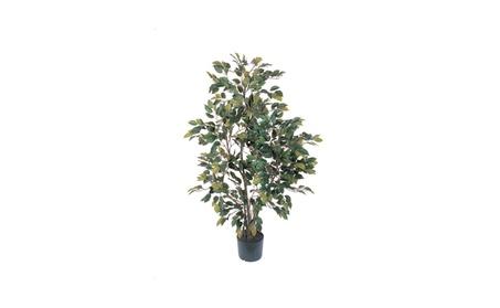 Nearly Natural 4' Ficus Silk Tree Green cabb5ea3-0b93-4a96-bbab-9eb3b837e308