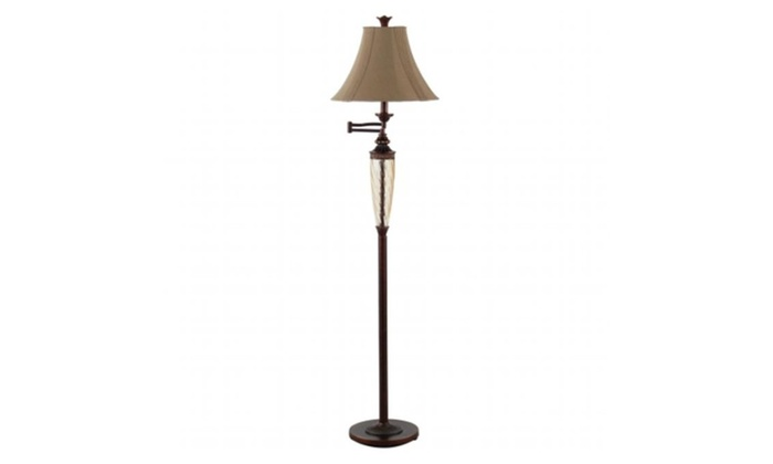 Austin Lighting LF2003 Waterford Swingarm Floor Lamp