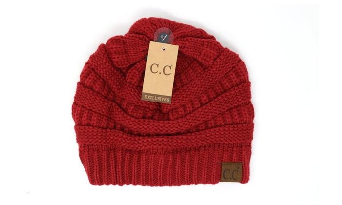0635816bc041c Crane Clothing Co. Winter Hat CC Beanie Solid Colors Women Unisex ...