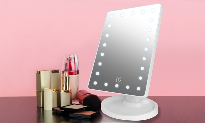 Led Lighted Dimming Vanity Makeup Mirror Groupon