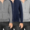 Men's Fleece Zip-Up with Thermal Hoodie Sweatshirts (3-Pack)