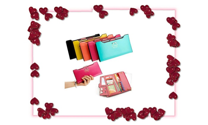 Lady Women Leather Clutch Wallet Special For Valentine Day