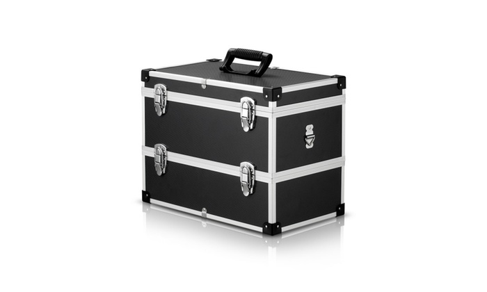 Large 2 Layer Portable Tool Box Multi Purpose Storage Container