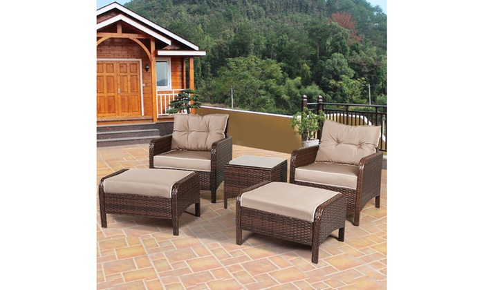 Up To 12 Off On Costway Patio Furniture 5 Pc Groupon Goods