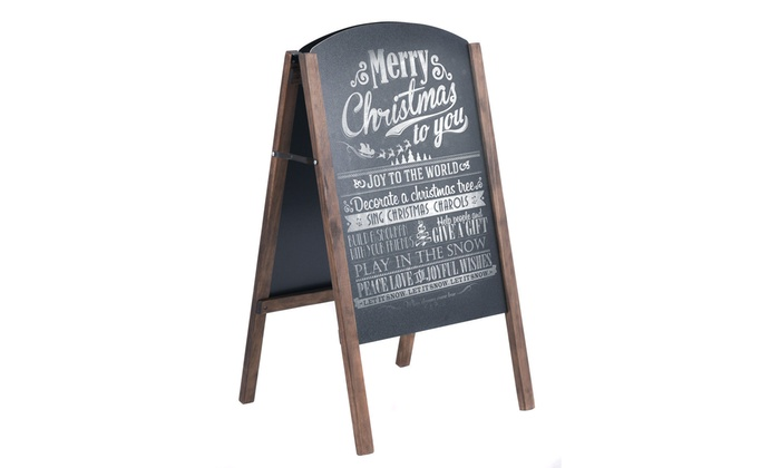 Up To 39% Off on 40\'\' Wood A-Frame Chalkboard ... | Groupon Goods