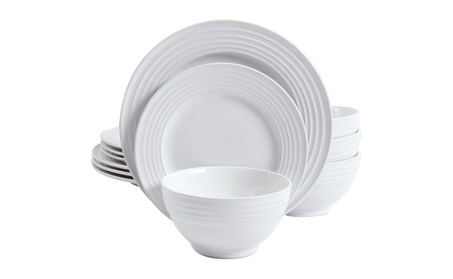 Gibson Home 12 Piece Plaza Cafe Round Dinnerware Set photo