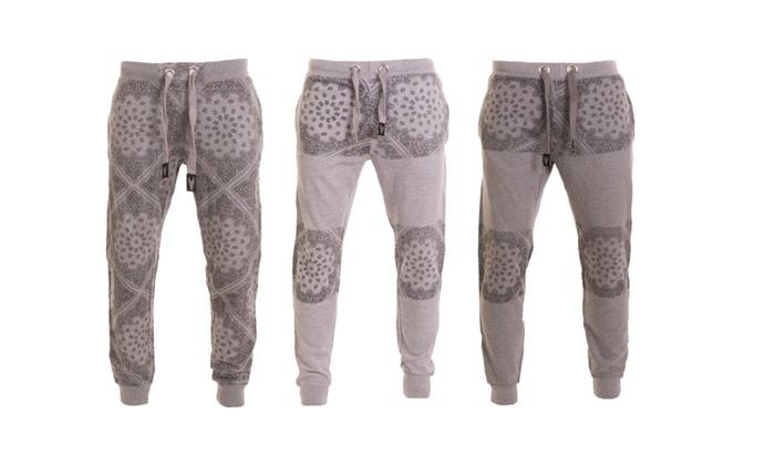 Hawks Bay Men's Jogger Sweat Pants Paisley Print