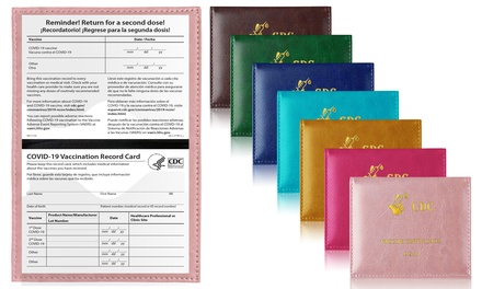 3-Pack : Faux Leather CDC Vaccination Immunization Card Holder Was: $24.00 Now: $7.99