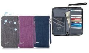 Travel Wallet Design Passport Holder Water-Resistant with Detachable Strap
