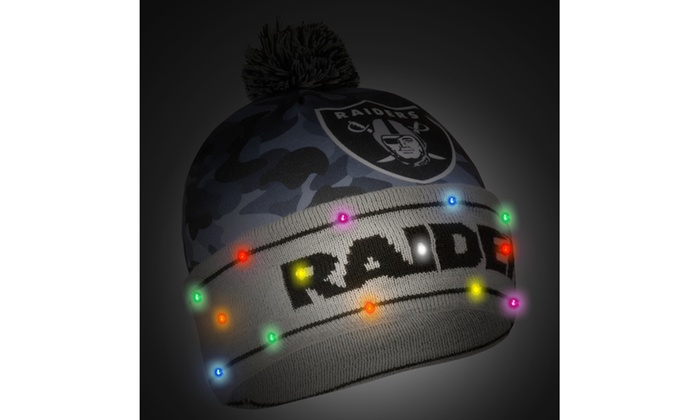 b78bc29f73d NFL Light-Up LED Beanie Hat for Men and Women