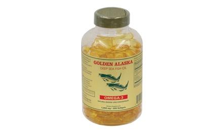 Alaska Deep Sea Fish Oil, Omega 3, DHA/EPA 1000 mg 200 Softgels
