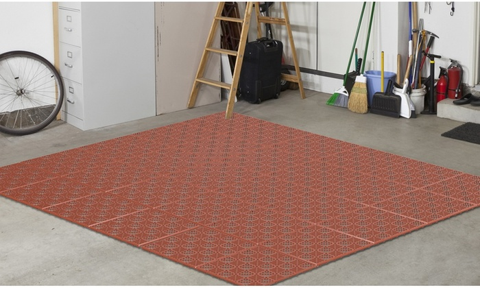 Interlocking Patio, Deck, or Garage Floor Tiles | Groupon