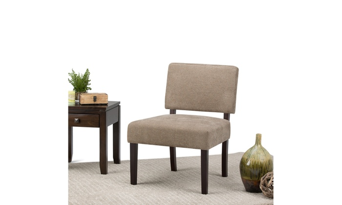Incredible Closeout Virginia Check Accent Chair In Tan Onthecornerstone Fun Painted Chair Ideas Images Onthecornerstoneorg