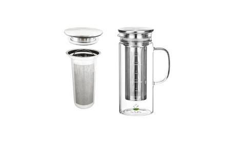 Cold Brew Coffee and Iced Tea Maker, Glass Carafe with Lid fa6481f9-977a-4b75-9070-e57f42c1c584