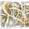 Symmetrical Spiral Fractal Flowers - Digital Art Metal Wall Art