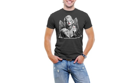 Marilyn Monroe Phone Wings Men T-Shirt Soft Cotton Short Sleeve Tee d40c0276-c649-43a7-8553-1a0f79450ab3