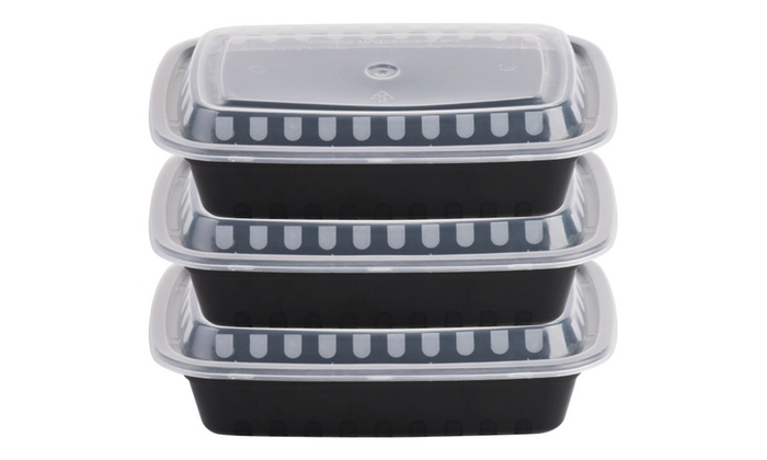 ready meal prep heavyweight bento lunch box portion control containers groupon. Black Bedroom Furniture Sets. Home Design Ideas