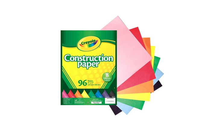 crayola 96 ct construction paper assorted colors groupon