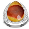 Orchid Jewelry 925 Sterling Silver 7-2/5 Carat Mookaite Jasper Ring