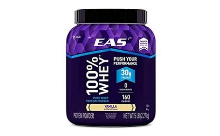 EAS 100% Pure Whey Protein Powder, Vanilla, 5 LB, 30 Grams 5faab69d-ce33-415e-8cf3-9cb279f7ae2d