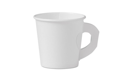 Solo Cups SCC374HW Single-Sided Paper Hot Cup with Handle, White b18ff171-eea4-4209-a72b-ca3f999bd9a7