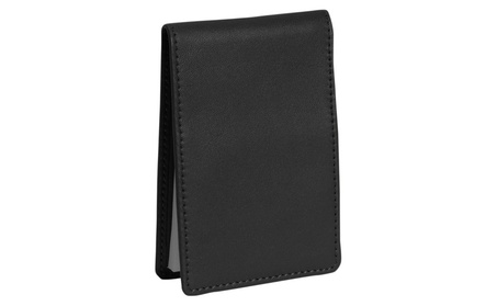 Royce Leather 700-BLACK-5 Flip Style Note Jotter - Black a669331c-29b1-4b6b-99e3-ffb77e976466