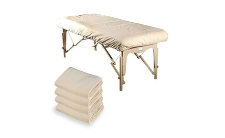 Royal Massage Set of 4 Cotton Flannel Massage Table Fitted Sheets