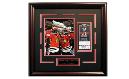 Jonathan Toews Patrick Kane Chicago Blackhawks 2015 Stanley Cup Frame 26fb74cd-9843-4833-bef1-81ce4e8fc281
