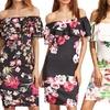 Leo Rosi Women's Floral Off-Shoulder Dress