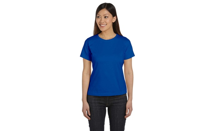 LAT Ringspun Scoop Neck Tee-Shirt LAT3580-6