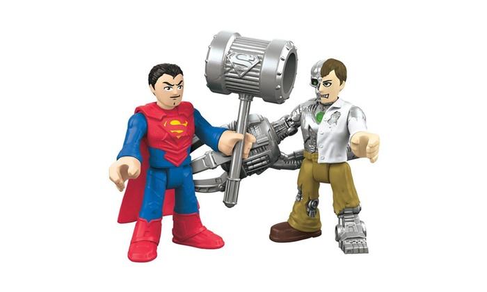ChopRetail: Fisher-Price Imaginext Superman & Metallo DC Super Friends Figures Set