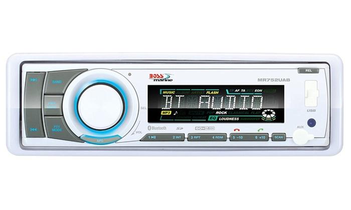 Boss Audio Single-Din Marine Bluetooth Receiver MP3/CD AM/FM plus Remote