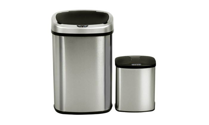 Thompson City: 2 Touch-Free Motion Sensor Bin Trash Can 13 & 2.3 Stainless Steel