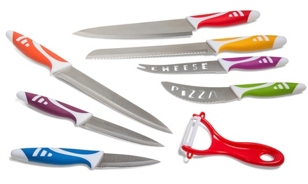 Multi-Use 8pc Knife Kitchen Set - Stainless Steel Commercial Grade Non-Stick