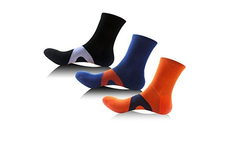 Athletic Compression Socks Crew Running Ankle Support Men d5d31791-6d83-46a7-8a80-8fa42534b7ef