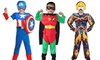 Boys Super Hero Muscle Costumes with Mask