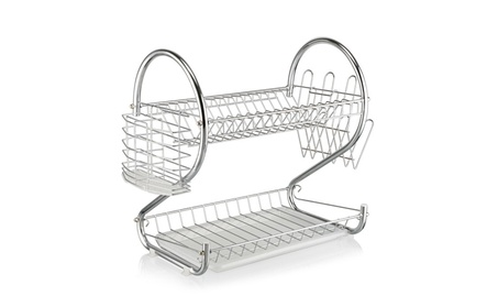 Cookware 2 Tiers Kitchen Dish Cup Drying Rack Holder Organizer 49ac9ca7-d22f-4c1b-8980-76bfbe05ac26