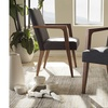 Andrea Dark Grey Upholstered Wooden 2-piece Armchair