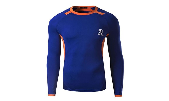 Men's Cool Dry Compression Long Sleeve Baselayer T Shirts
