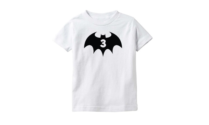 3rd Birthday 3 Years Old Bat Hero Superhero Toddler Kids T Shirt