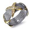 Luxury 3 Golden Color Cross Stackable Rings for Women