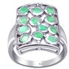 Orchid Jewelry 1.20 Ctw 925 Sterling Silver Cluster Halo Emerald Gemstones Ring